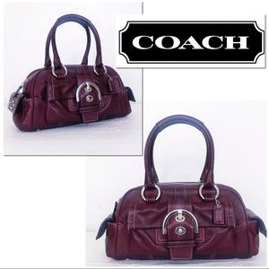 Coach Soho Mia Oxblood Leather Satchel Hand Bag